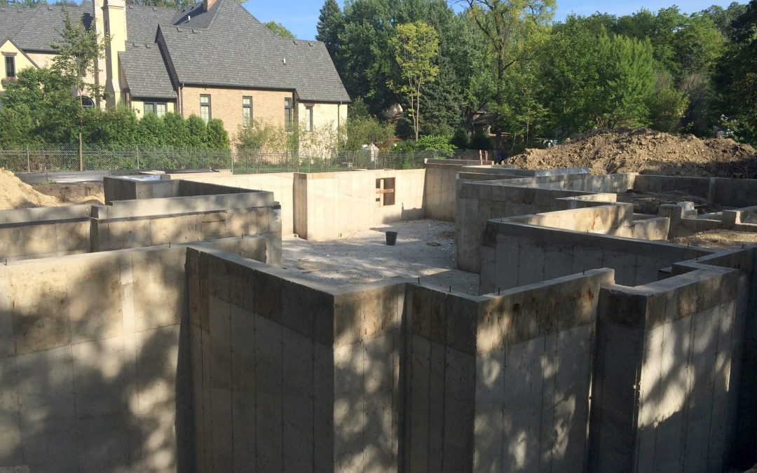 Custom Foundation for a Large Home