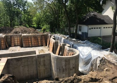 Custom Foundation with Radius Walls